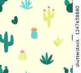 seamless pattern of hand drawn... | Shutterstock .eps vector #1247658880