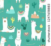 seamless pattern of cute hand... | Shutterstock .eps vector #1247658883