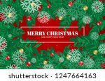 merry christmas and happy new... | Shutterstock .eps vector #1247664163