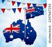animals australia day... | Shutterstock .eps vector #1247667253