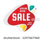 sale   discount concept banner...   Shutterstock .eps vector #1247667460