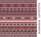 abstract seamless ethnic... | Shutterstock .eps vector #1247672776