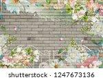 3d wallpaper design background...   Shutterstock . vector #1247673136