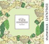 background with horseradish ...   Shutterstock .eps vector #1247675653