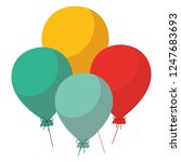 colorful baloons design | Shutterstock .eps vector #1247683693