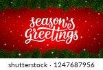 season greetings calligraphy... | Shutterstock .eps vector #1247687956