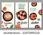 traditional greek cuisine. set... | Shutterstock .eps vector #1247690110
