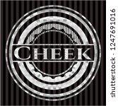 cheek silver shiny badge | Shutterstock .eps vector #1247691016