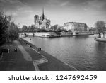 cathedral of notre dame de... | Shutterstock . vector #1247692459