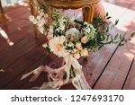 wedding bouquet of flowers and... | Shutterstock . vector #1247693170