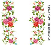 foliate border with roses...