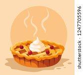 apple pie icon | Shutterstock .eps vector #1247705596
