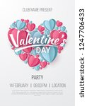 valentines day party poster...   Shutterstock .eps vector #1247706433