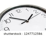 close up view of clock isolated ... | Shutterstock . vector #1247712586