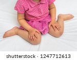 child sitting in bad position ... | Shutterstock . vector #1247712613