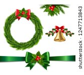 christmas set isolated with... | Shutterstock .eps vector #1247713843