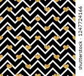 gold heart seamless pattern.... | Shutterstock . vector #1247724166