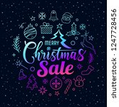 merry christmas sale message... | Shutterstock .eps vector #1247728456