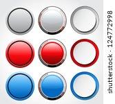 vector circular blank glossy... | Shutterstock .eps vector #124772998