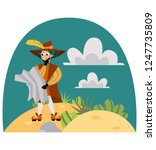 happy columbus day greeting or... | Shutterstock .eps vector #1247735809
