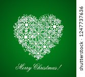 green christmas background with ... | Shutterstock .eps vector #1247737636