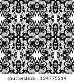 lace vector fabric seamless... | Shutterstock .eps vector #124775314