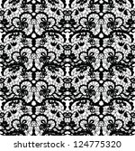 lace vector fabric seamless... | Shutterstock .eps vector #124775320