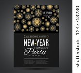 elegant christmas background... | Shutterstock .eps vector #1247753230