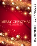 merry christmas elegant design... | Shutterstock .eps vector #1247753236