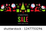 christmas sale season design... | Shutterstock .eps vector #1247753296