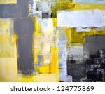 Grey And Yellow Abstract Art...