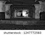 Pillars Inside An Abandoned...