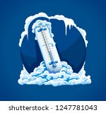 winter frost. cold weather.... | Shutterstock .eps vector #1247781043