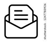 text message notification | Shutterstock .eps vector #1247783926