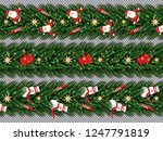 border set with santa claus ... | Shutterstock .eps vector #1247791819