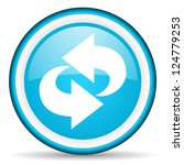 blue circle glossy web icon... | Shutterstock . vector #124779253