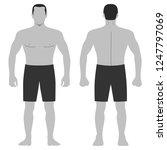 fashion hero man body full...   Shutterstock .eps vector #1247797069