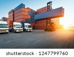 industrial container yard with... | Shutterstock . vector #1247799760