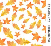 circle of dry leaves maple and... | Shutterstock .eps vector #1247804536
