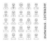 line person icon set linear... | Shutterstock .eps vector #1247806549