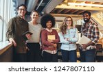 group photo of five people from ...   Shutterstock . vector #1247807110