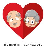 cartoon grandfather and...   Shutterstock .eps vector #1247813056