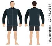 fashion man body full length...   Shutterstock .eps vector #1247814589