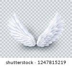 vector 3d white realistic... | Shutterstock .eps vector #1247815219