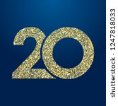 20 th years old logotype.... | Shutterstock .eps vector #1247818033