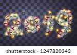 2019 poster from christmas... | Shutterstock .eps vector #1247820343