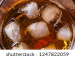 close up of ice cubes in glass... | Shutterstock . vector #1247822059