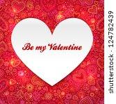 heart made from paper... | Shutterstock . vector #124782439