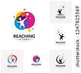 set of reaching stars logo...   Shutterstock .eps vector #1247825569