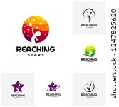 Set Of Reaching Stars Logo...